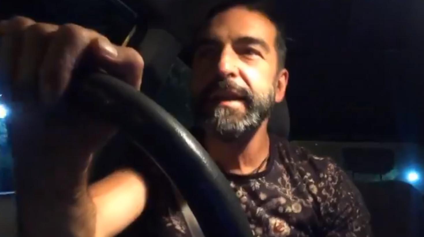 Humorista sufre accidente de tránsito mientras hacía un Facebook Live