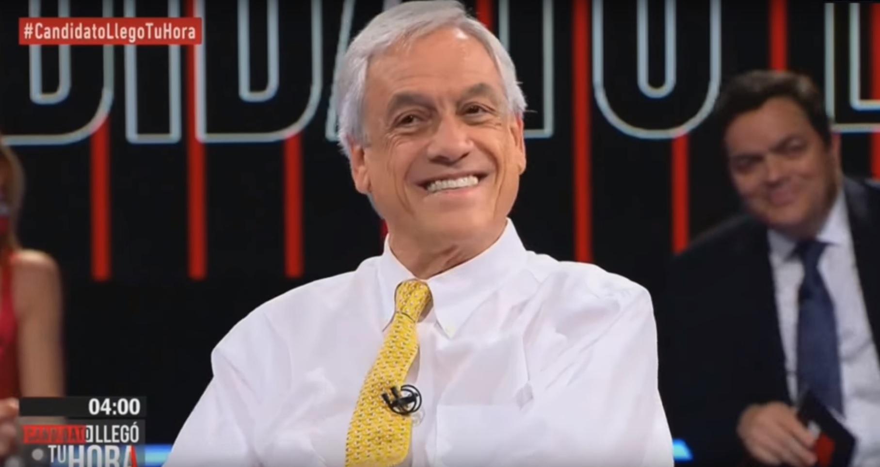 Polémica por chiste racista de Piñera en programa de TV