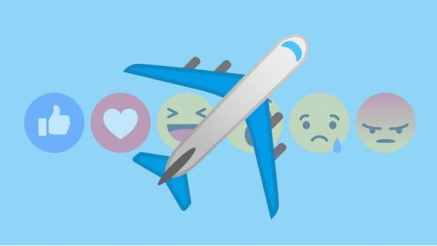Así puedes activar la reacción del avión — Facebook