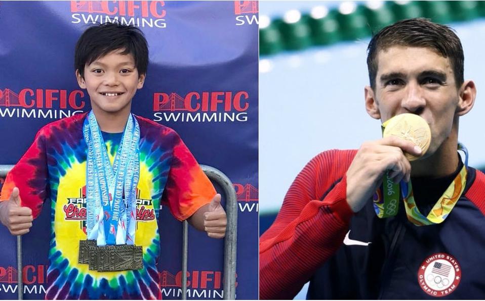 Phelps felicita a un niño de 10 años y hace explotar Twitter