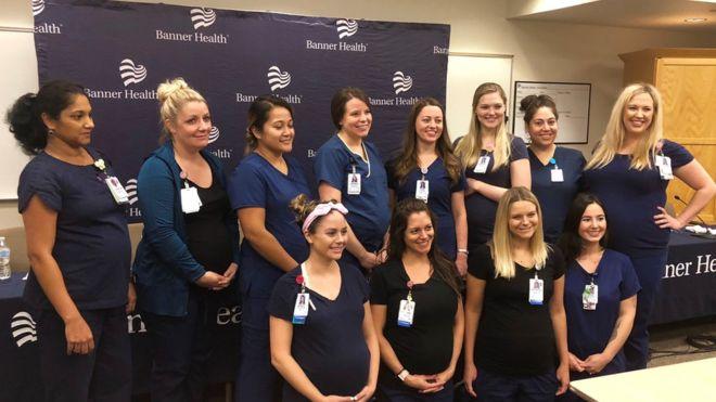 ¿Será contagioso? 16 enfermeras quedaron embarazadas al mismo tiempo