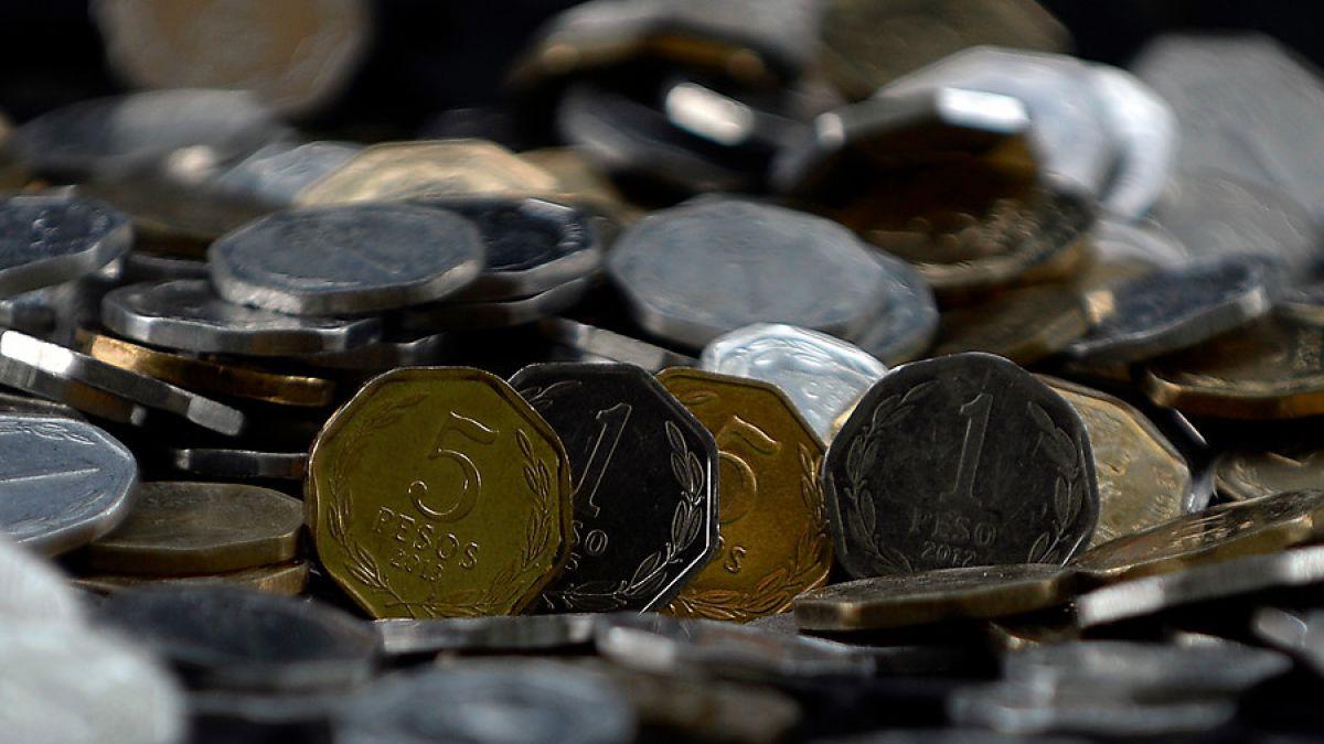 moneda 1 y 5 pesos chilenos