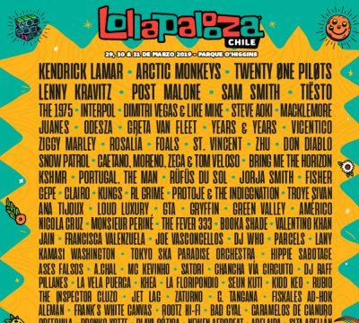 lineup lollapalooza chile 2019