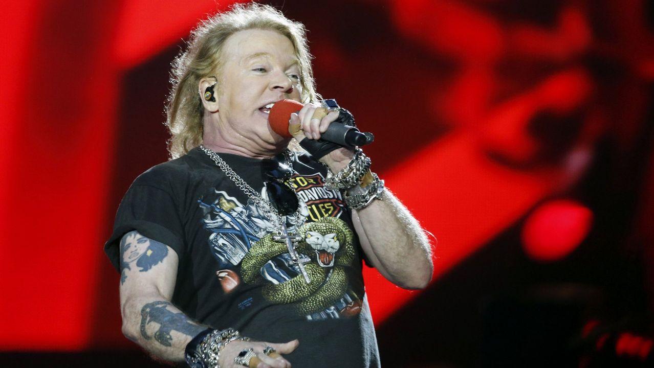Guns N' Roses termina concierto por enfermedad de Axl Rose