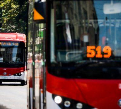 red sistema de transporte chile 2019