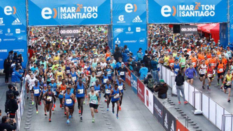 vasos reciclados maratón de santiago