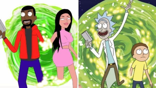 rick and morty y kanye west