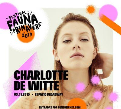 Charlotte de Witte llega a Fauna Primavera — Suma y sigue