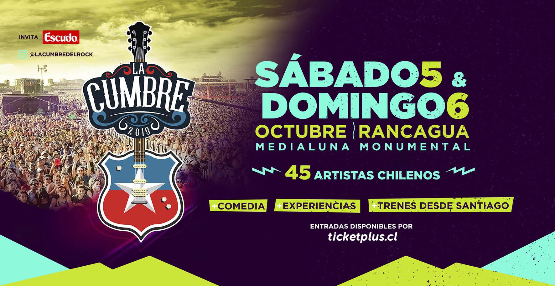 Confirmado: Festival de música chilena 'La Cumbre' se realizará en Rancagua