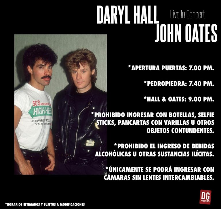 hall and oates horarios concierto chile