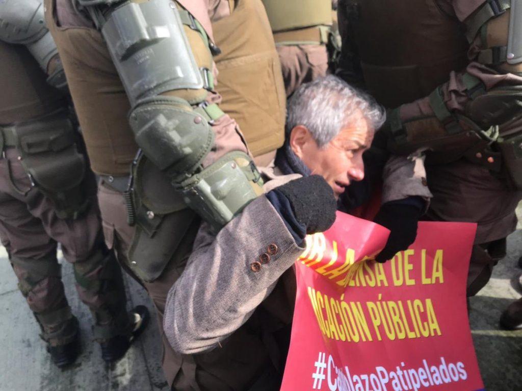 detenido presidente del colegio de profesores