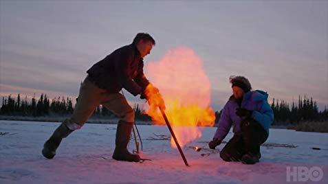 di caprio ice on fire
