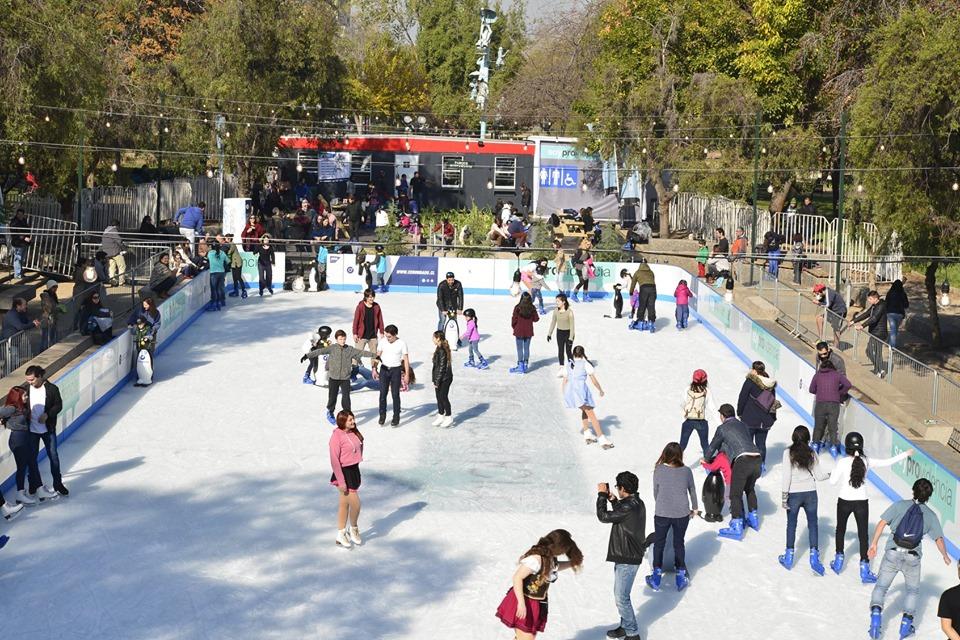 Pista de hielo parque bsutamante