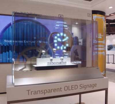 television transparente
