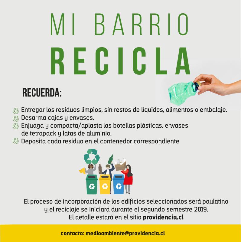 mi barrio recicla providencia 2019 4