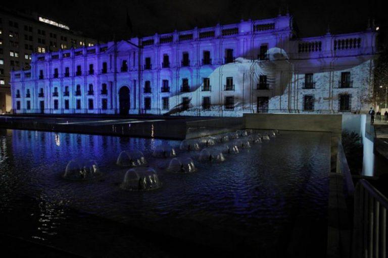 palacio de la moneda luces
