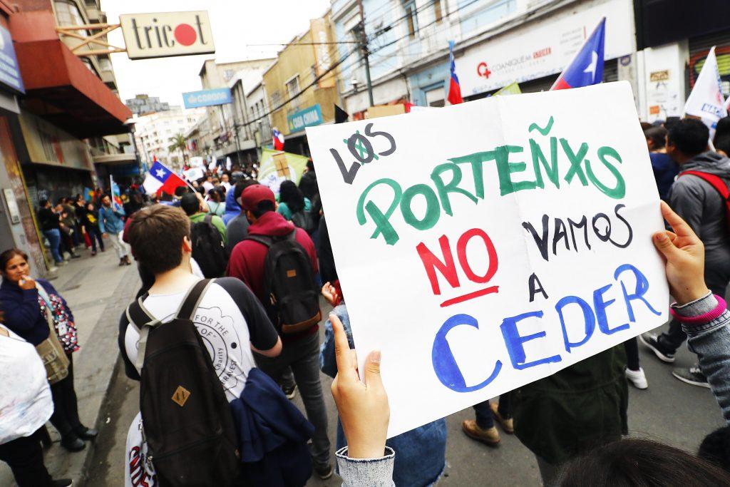 Paro Nacional en Valparaiso FOTO: LEONARDO RUBILAR CHANDIA/AGENCIAUNO