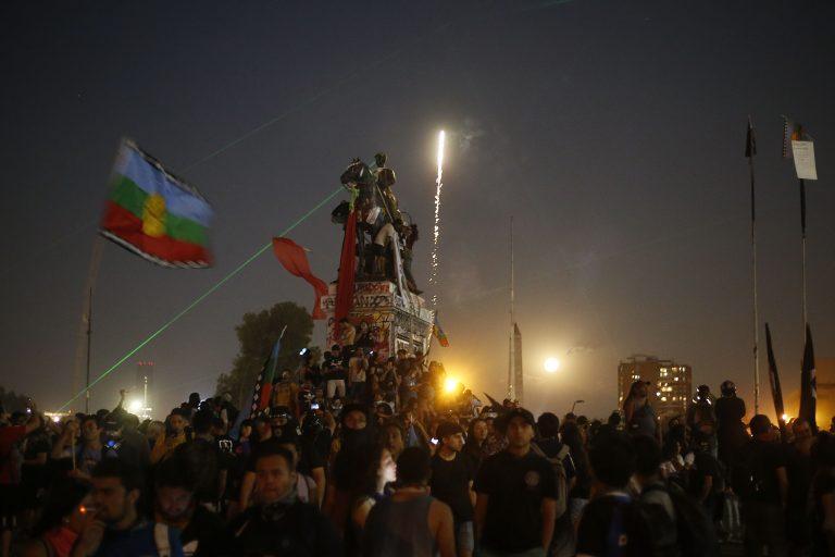 Manifestacion en Plaza Italia FOTO: CRISTOBAL ESCOBAR/AGENCIAUNO