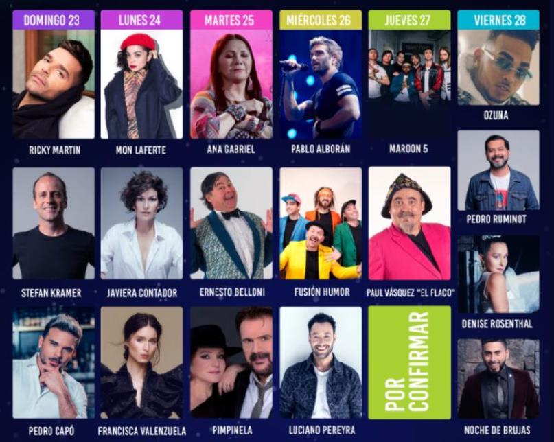 FESTIVAL DE VINA MAROON 5 2020