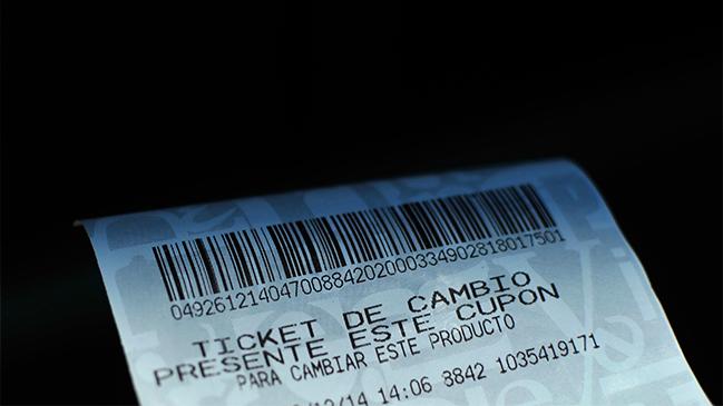 ticket de cambio