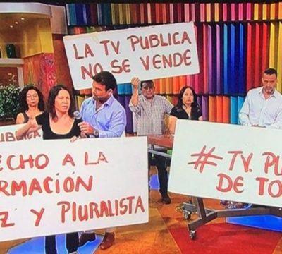 Manifestantes interrumpieron matinal de TVN para protestar en vivo