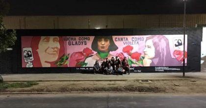Mon Laferte, Violeta Parra y Gladys Marín aparacen en mural de La Legua
