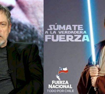 Mark Hamill responde a imagen de Pinochet vestido como caballero Jedi