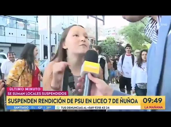 PSU: Niña se vuelve viral al contar que una señora le pegó por protestar