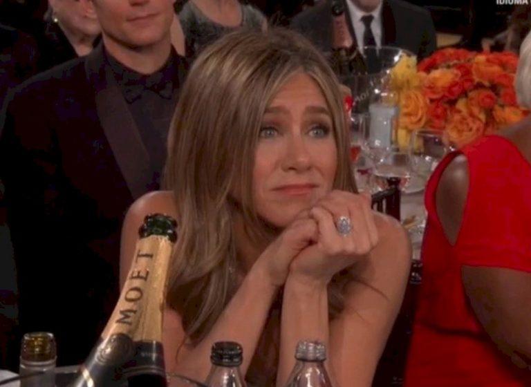 La reacción de Jennifer Aniston cuando Brad Pitt ganó su Globo de Oro