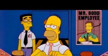Ansiedad en la oficina Homero