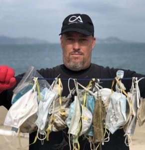 mascarillas contaminacion playas