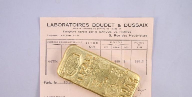 lingotes de oro francia