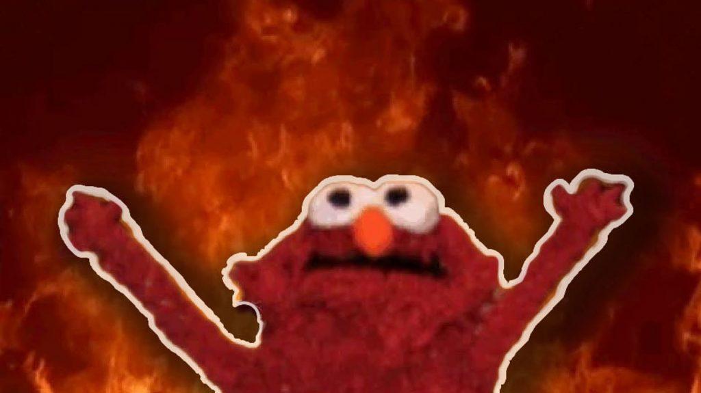 Elmo en llamas