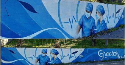 mural trabajadores salud temuco