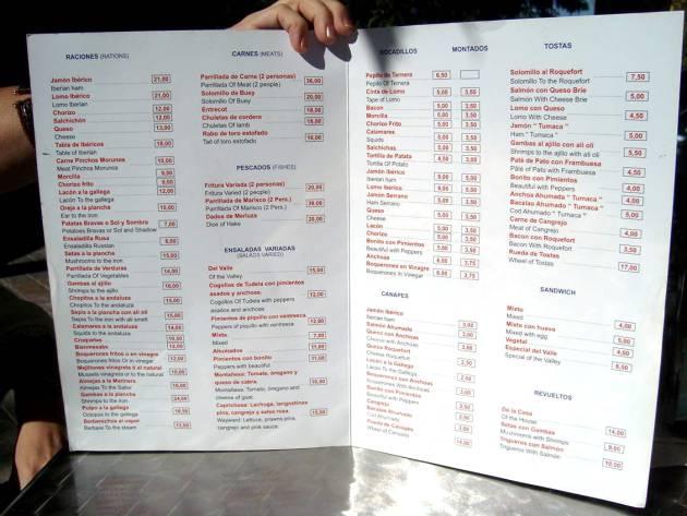 adios menus restaurantes