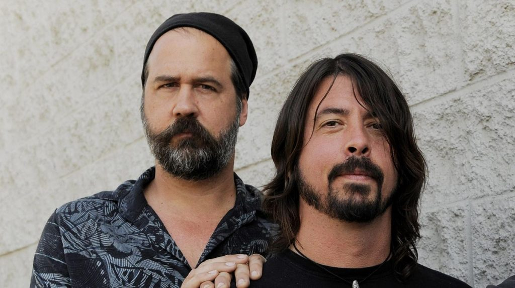 Krist Novoselic y dave grohl