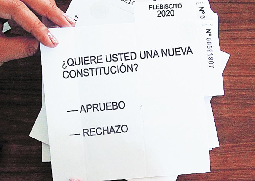 Imagen de cómo se ve el primer voto que entregarán en el Plebiscito