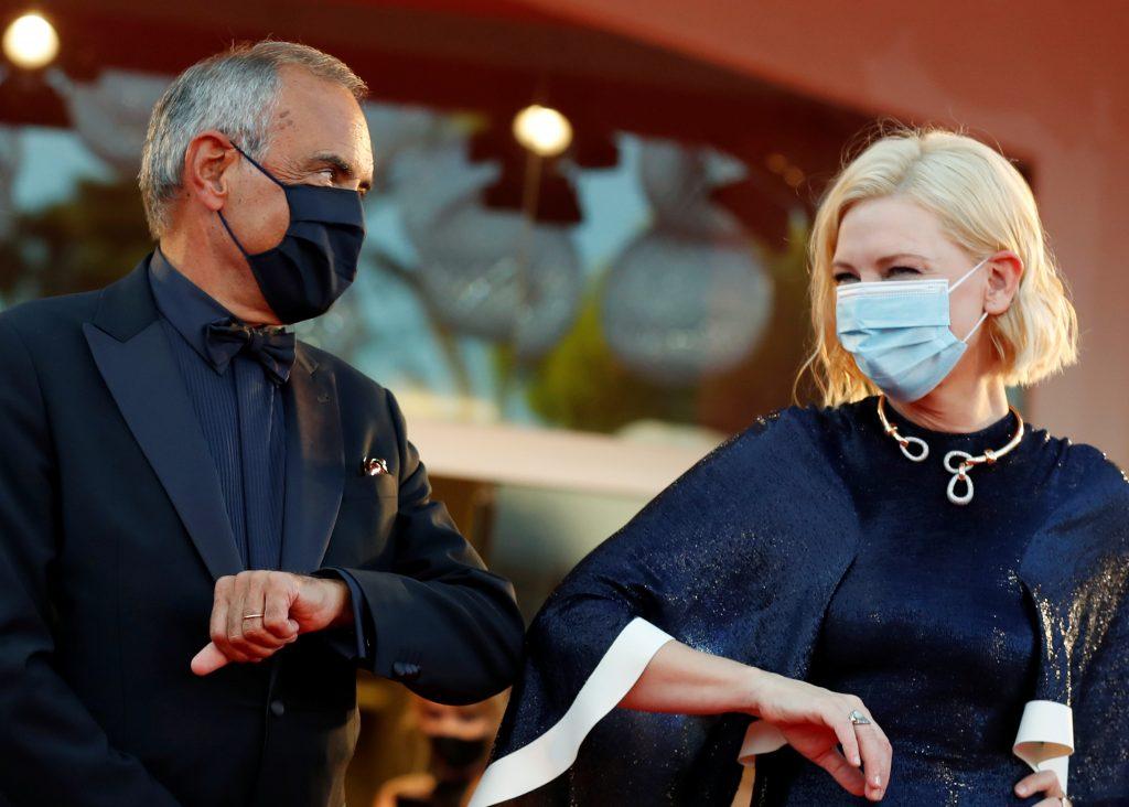 Alberto Barbera y Cate Blanchett - Festival de Cine de Venecia