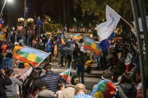 VIÑA DEL MAR: Celebraciones en plaza Sucre por triunfo del Apruebo