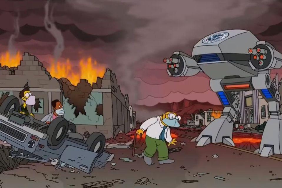 Destrucción Los Simpson
