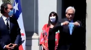 video piñera mascarilla izkia