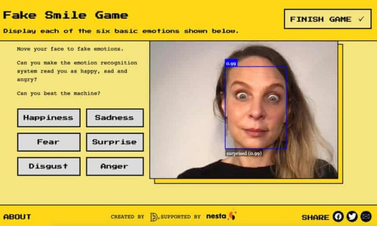 juego emociones camara web