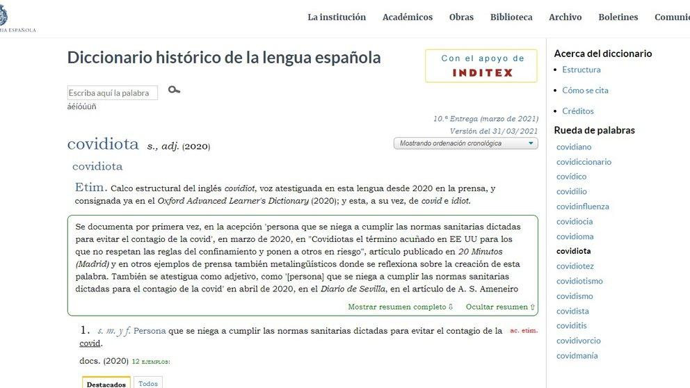real academia española covidiota
