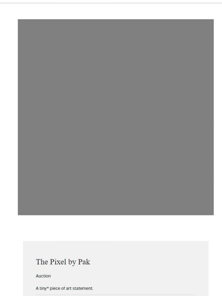 pixel nft subasta