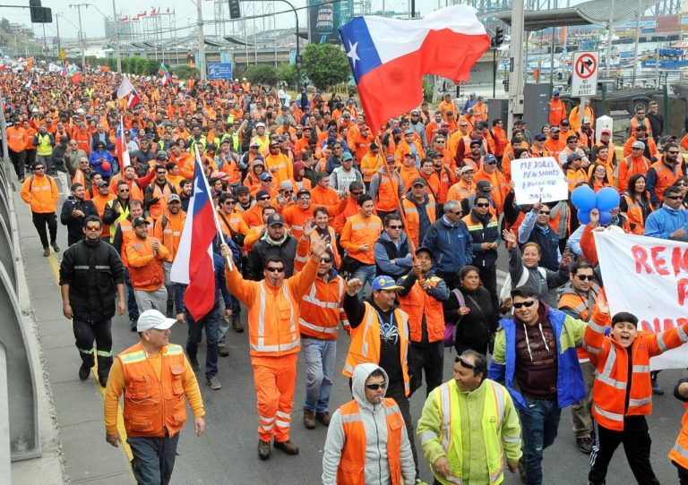 Paro Union Porturia De Chile