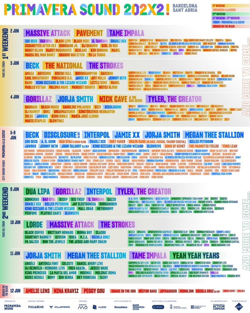 primavera sound 2022 cartel lineup
