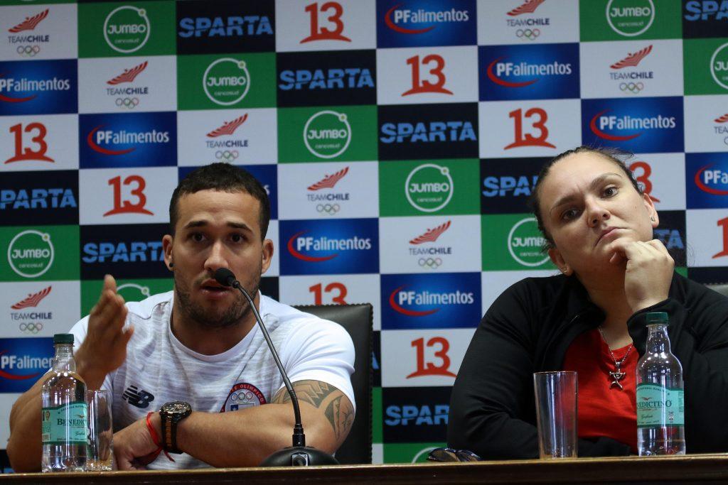 En El CEO Del Comité Olímpico De Chile Se Realiza Punto De Prensa Con Arley Méndez Y María Fernanda Valdés
