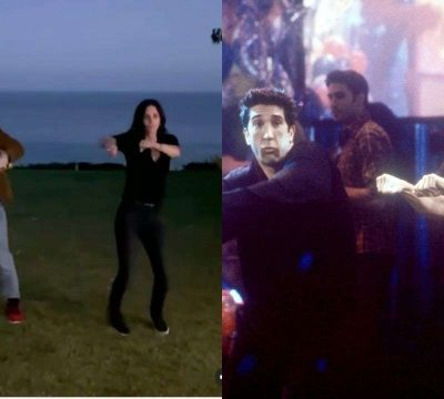 Courteney Cox Performs To The Iconic Routine From Friends With