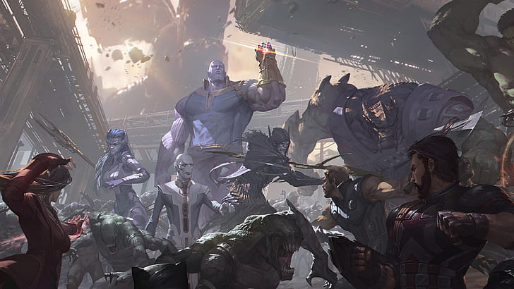 Movie Avengers Infinity War Captain America Corvus Glaive Cull Obsidian Hd Wallpaper Preview