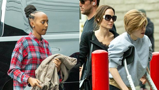 Zahara Jolie Pitt Movies Angelina Jolie Shiloh Hip Surgery Backgrid Ftr